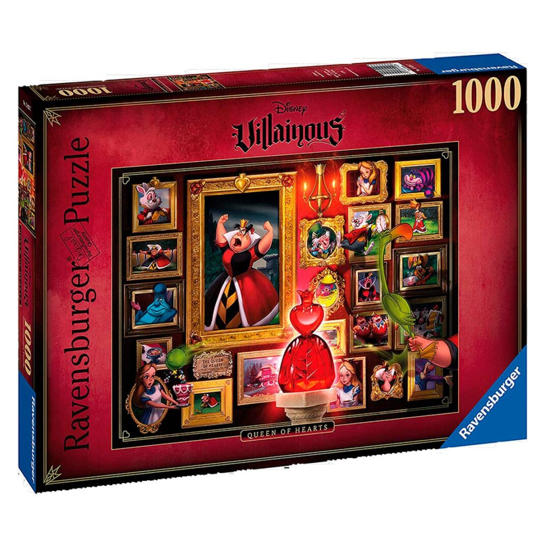 Puzzle Disney Villanos Reina de corazones rompecabezas