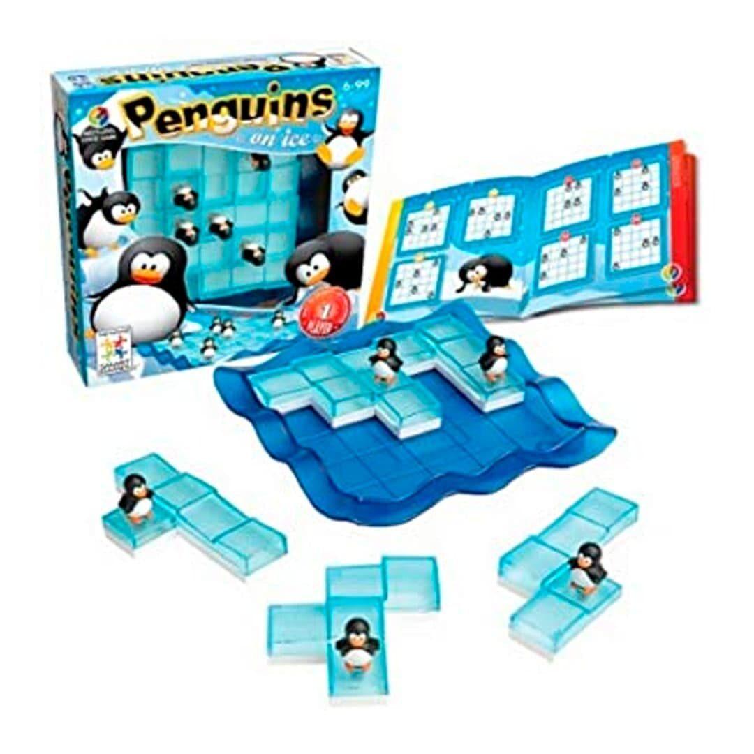 Pinguinos sobre hielo