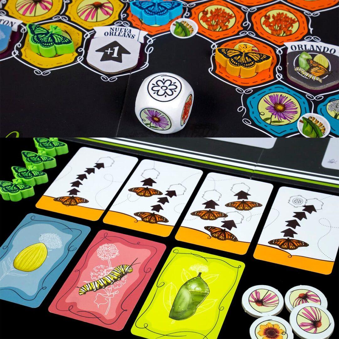 componentes mariposas juego de mesa